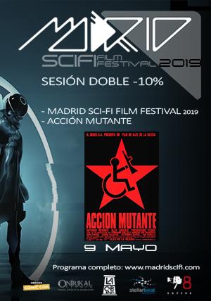 Bono sesión doble 9 de Mayo:  Proyección de cortometrajes  Acción Mutante  -10%